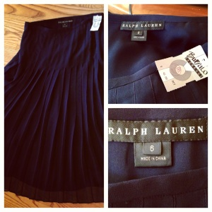 Ralph Lauren Black Pleated Skirt
