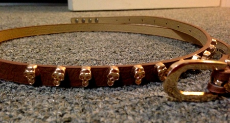 Rosegold Skull Belt